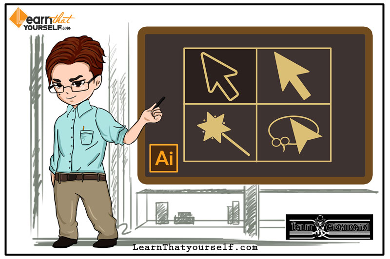 Selection tools in adobe illustrator cover art learn that yourself LTY lalit adhikari
