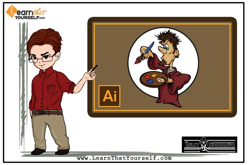 Brush tool adobe illustrator Learn that yourself LTY Cover Art Lalit Adhikari
