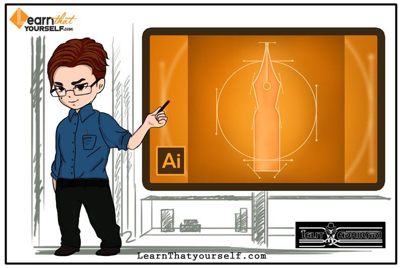 Pen Tool Adobe Illustrator Cover Art Learn That Yourself LTY Lalit Adhikari