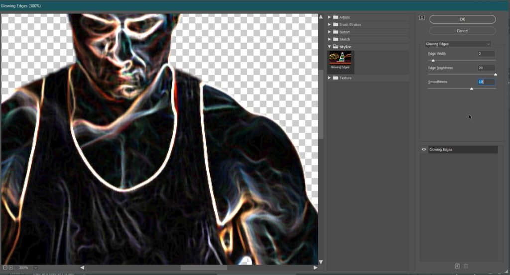 32 Screenshot glowing edges
