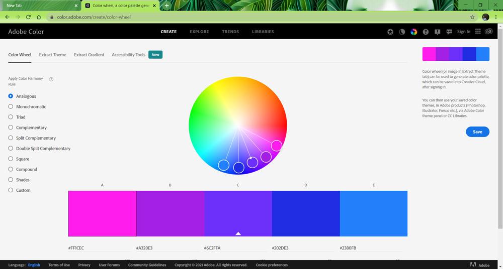 5 Screenshot adobe color wheel