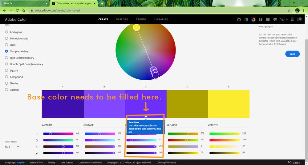 7 Screenshot base color here