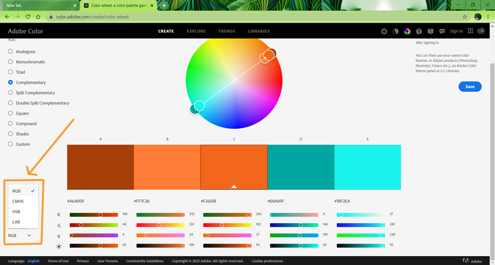8 Screenshot color modes here