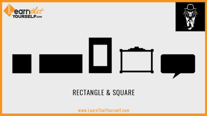 Elements of design 3 shape rectangle square