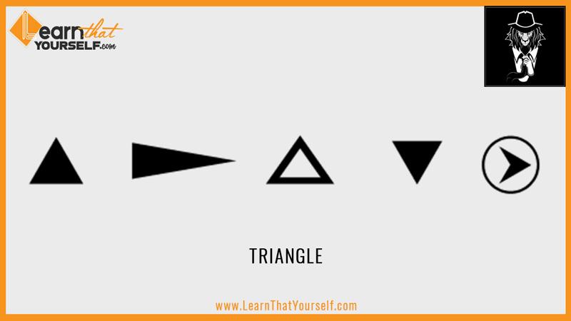Elements of design 3 shape triangle